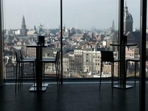 SkyLounche Amsterdam uitzicht